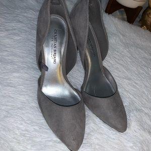 Gray Elegant Christian Siriano 7.5 heels Payless